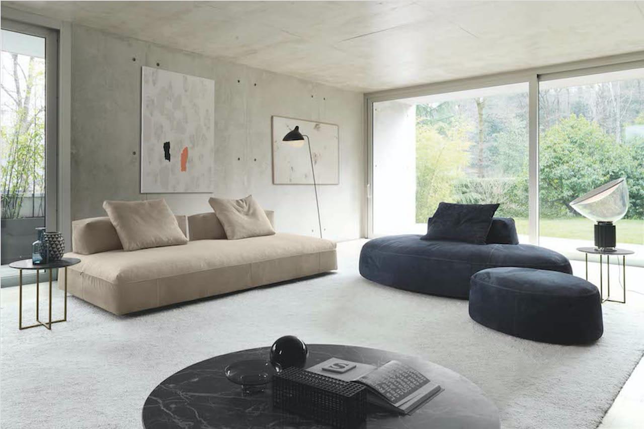 Salotto divani di design per ogni living - Dimensioni divano con isola ...