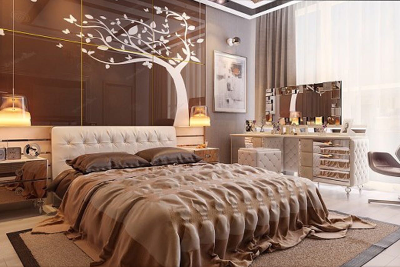 ديكورات غرف نوم مودرن بتصاميم عصرية فاخرة