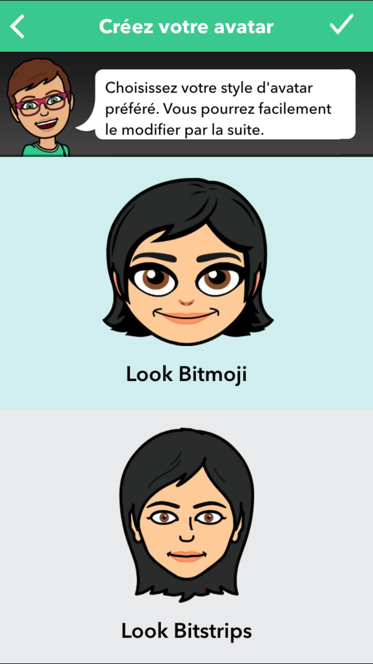 changement visage snapchat