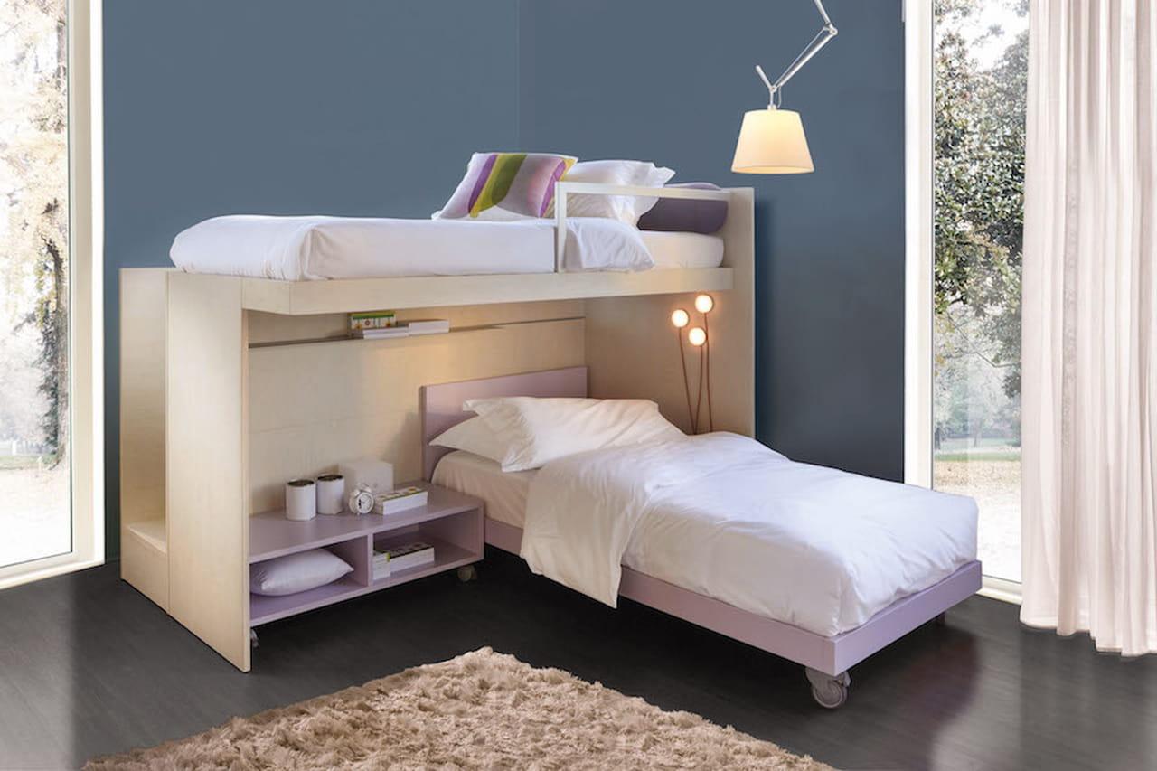 Camerette per bambini letti scrivanie e armadi salva spazio - Camere da letto per bambine ...