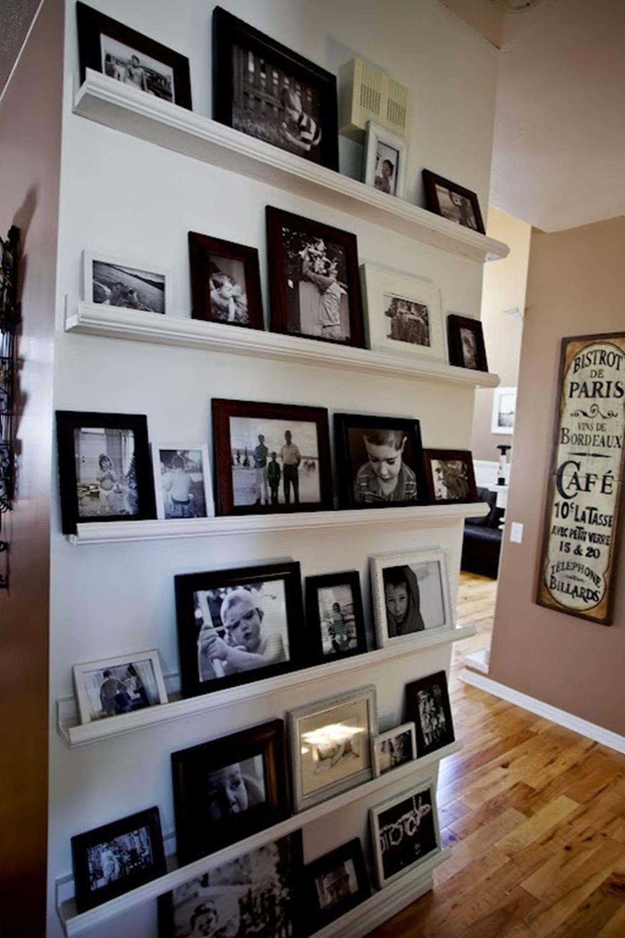 Inspire Se Com 15 Decora Es De Parede Bem Criativas -> Parede Galeria Sala