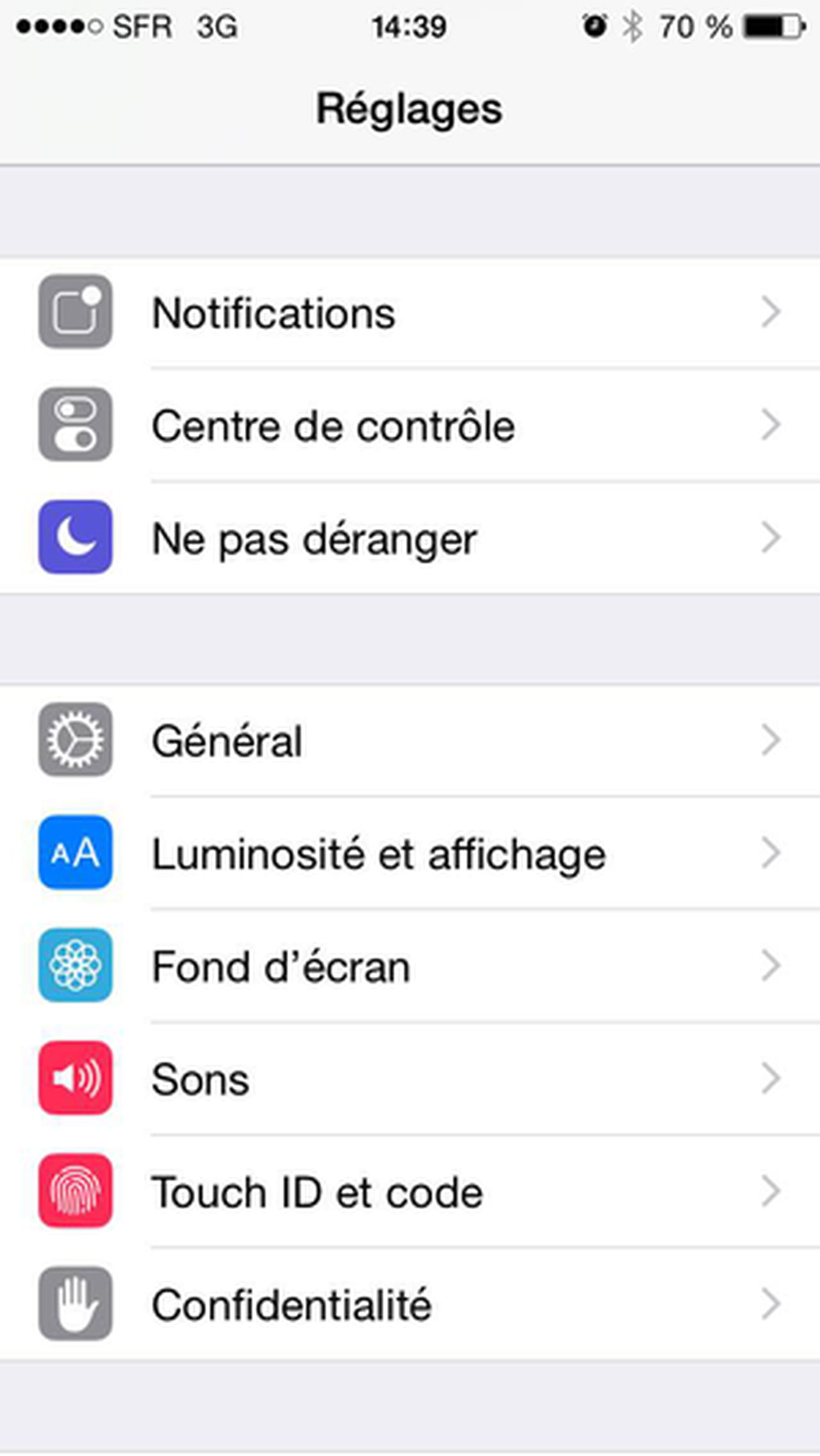 fleche localisation iphone 6s