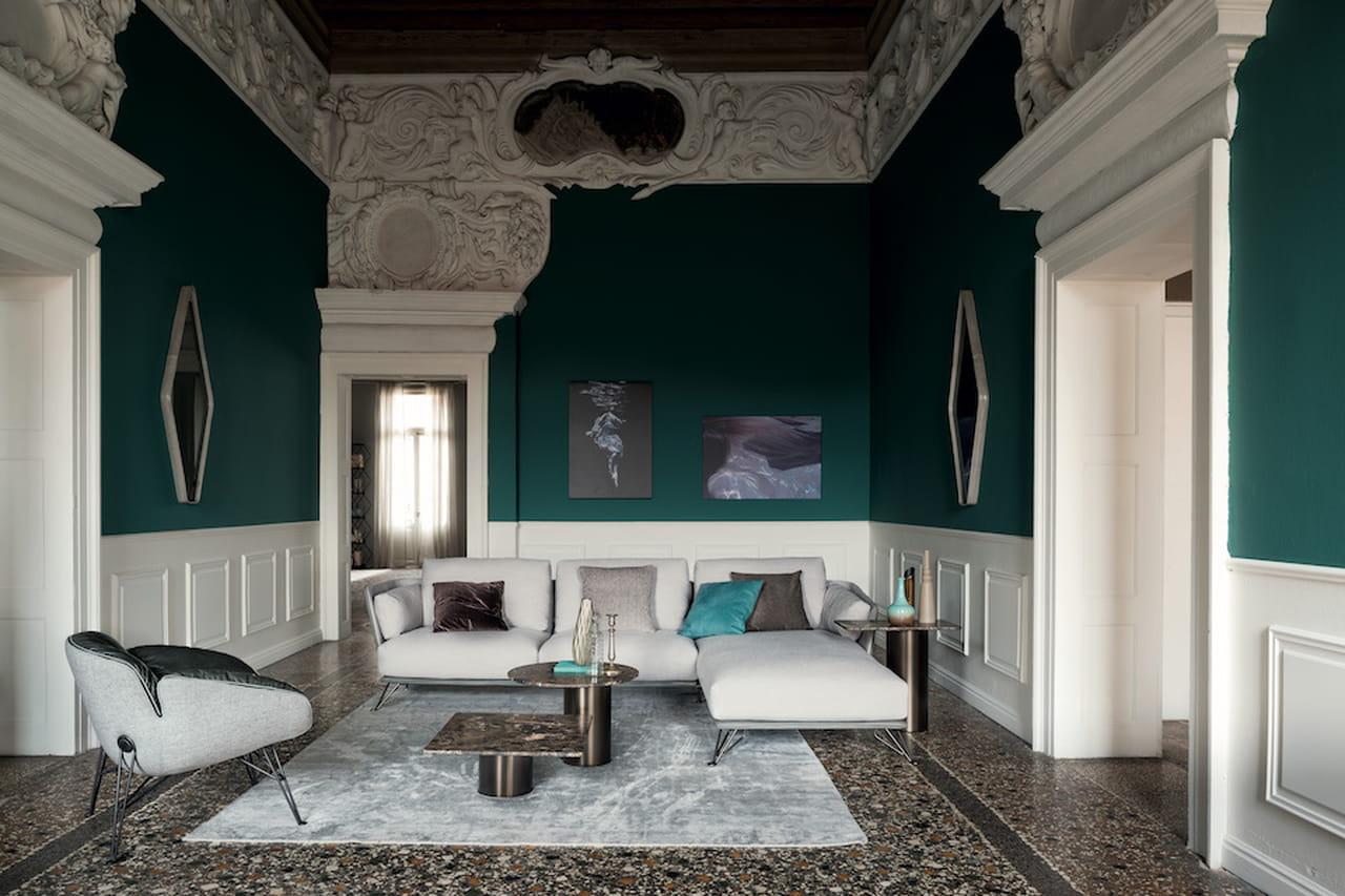 Saloni moderni gallery of cucine moderne ad angolo un for Mobili neoclassici