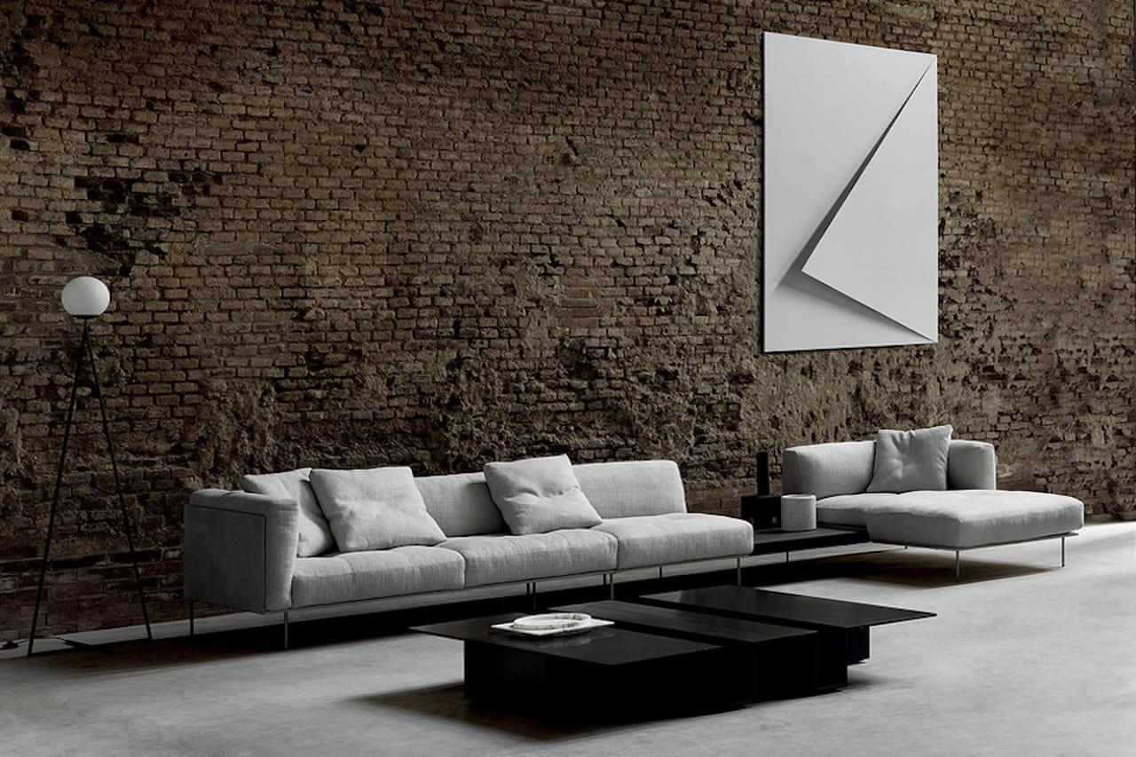 Rod system by piero lissoni il divano per arredare il for Arredamento soggiorno design