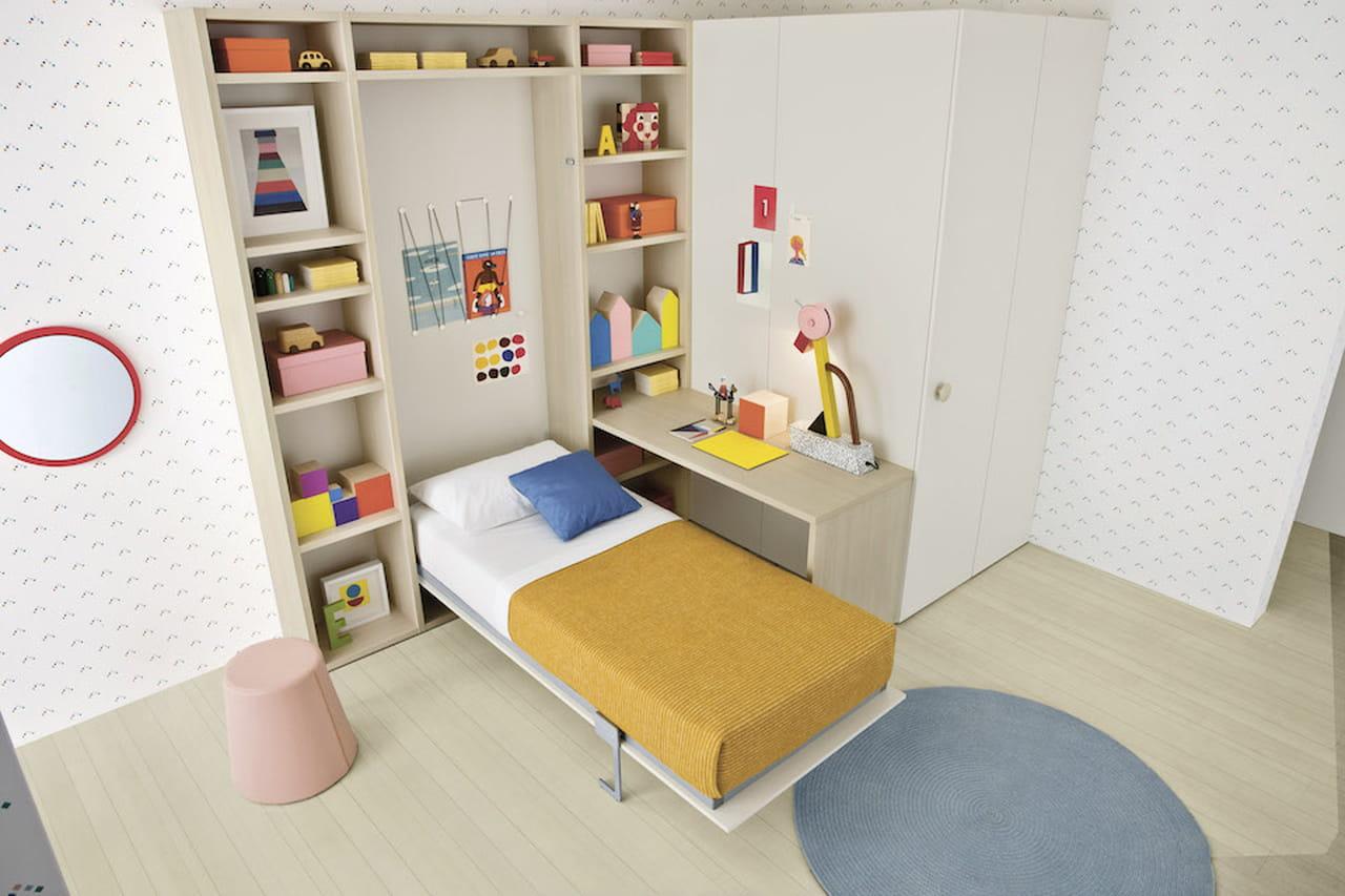 Camerette per bambini letti scrivanie e armadi salva spazio - Armadi classici per camerette ...