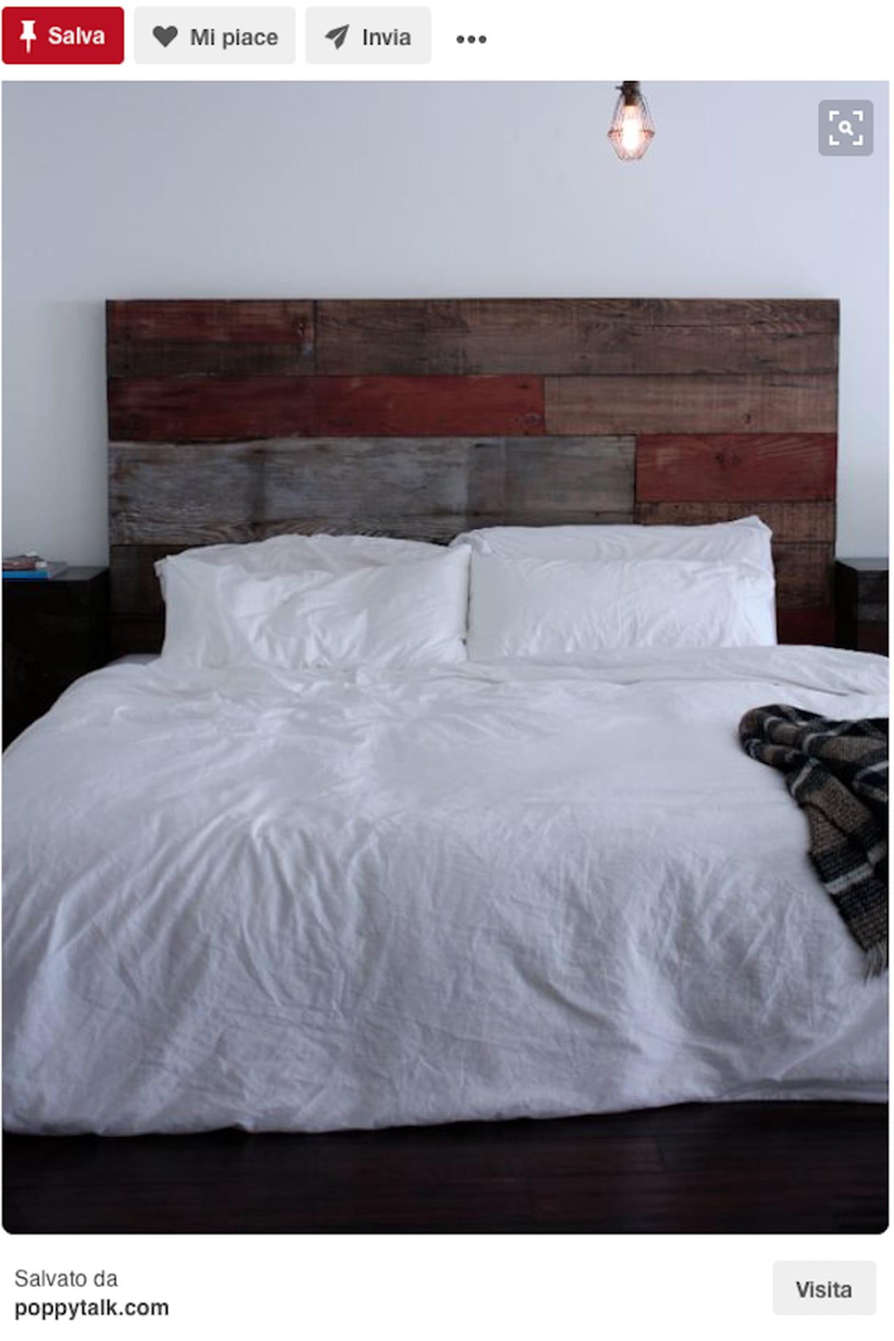 Testiera letto fai da te imbottita di legno idee da - Testiera letto originale ...