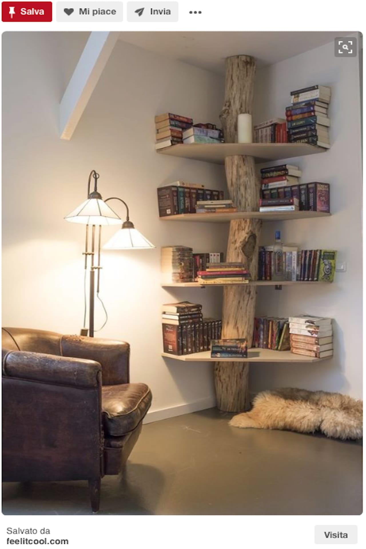 Libreria fai da te il riciclo in legno - Parete in legno fai da te ...