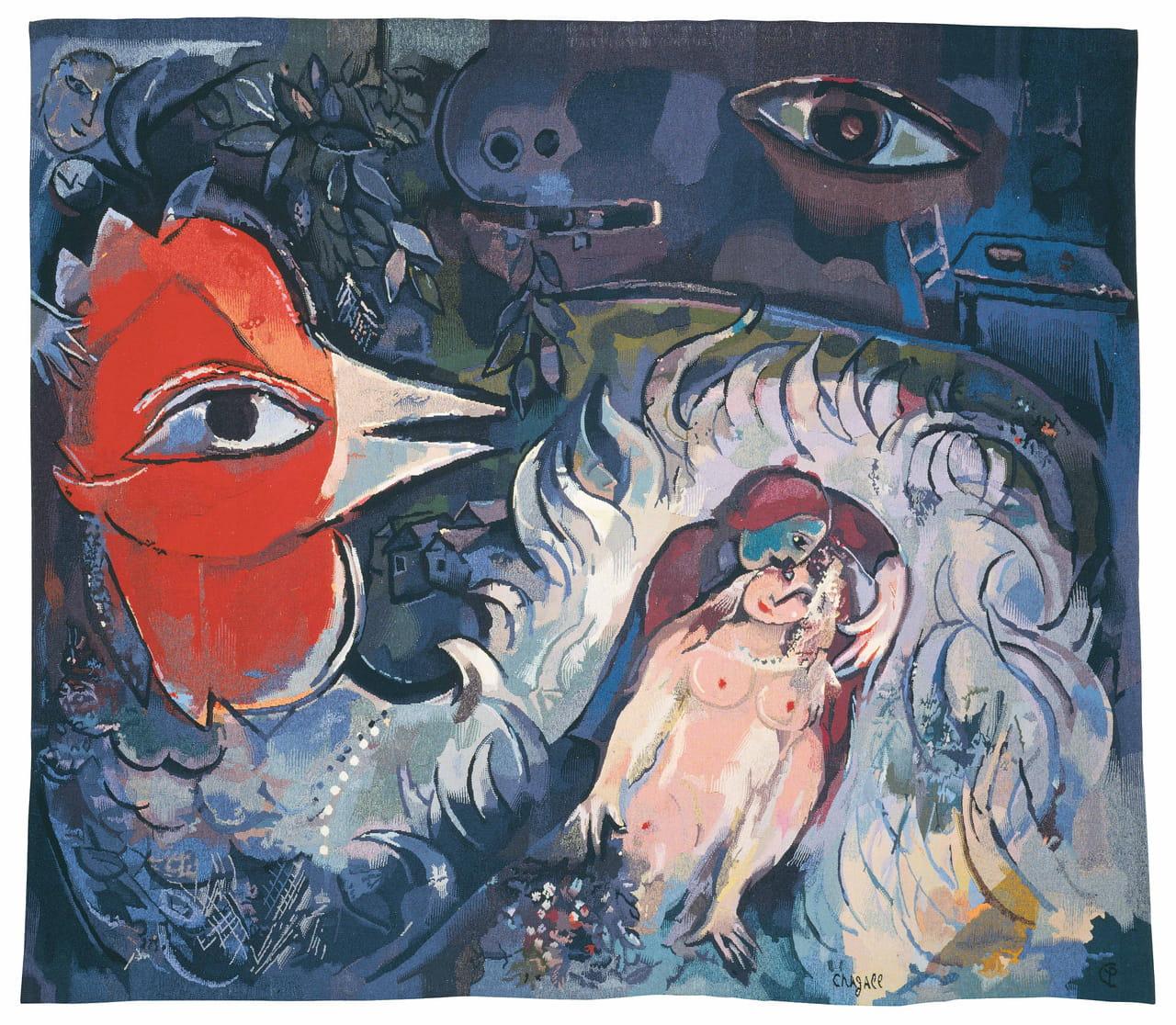 Chagall une peinture fil fil for Chagall tableau