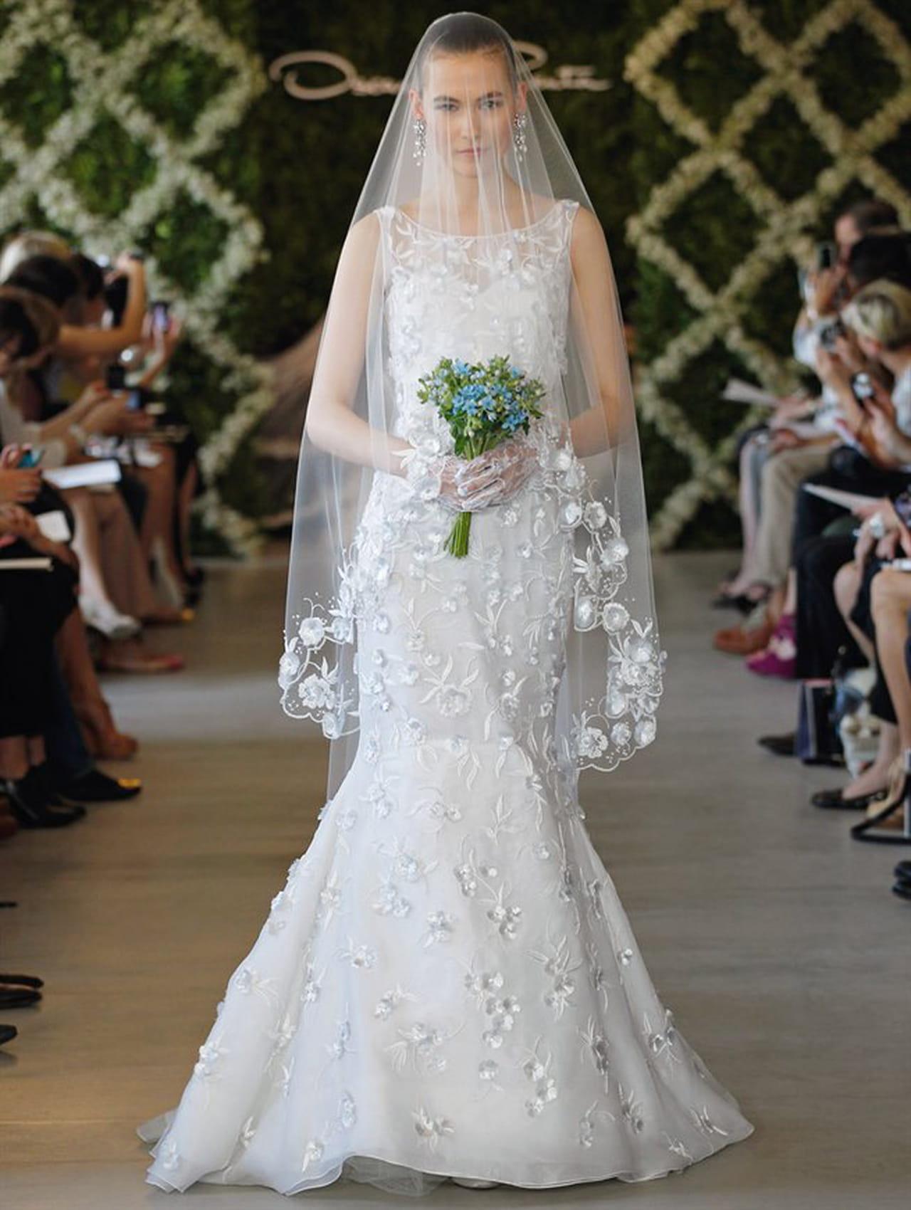 اجمل تصميمات فساتين زفاف من ماركة Oscar de la Renta