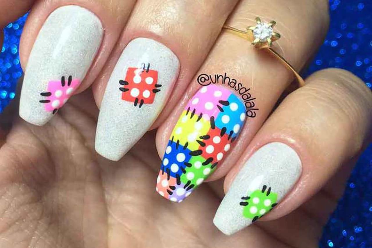 Adesivo De Jogos ~ Inspire se com 20 ideias de unhas decoradas para festa junina