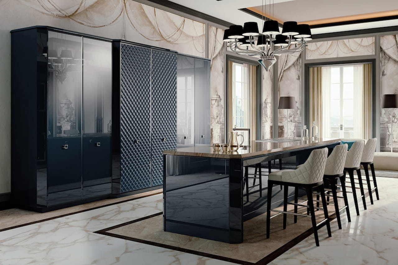 Cucine da sogno minimal vintage o glamour - Cucina a mobile ...