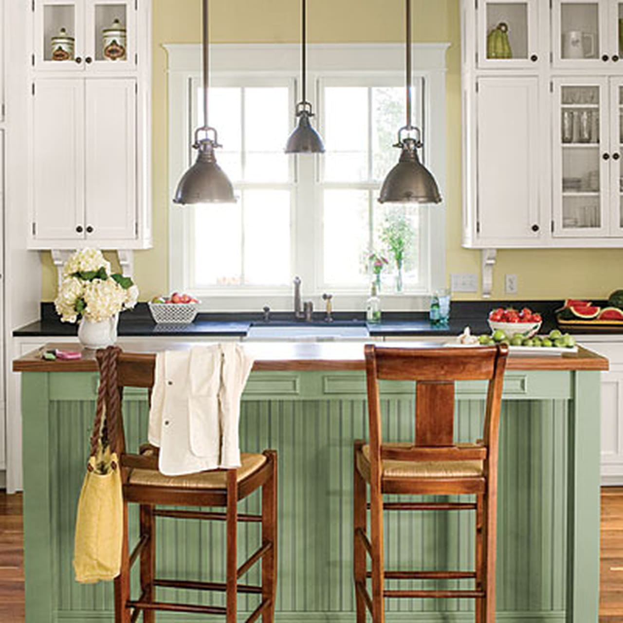 Cottage Themed Kitchen: ديكورات مطابخ شتوية 2014 .. لتتمتعي بسحر الشتاء في مطبخك