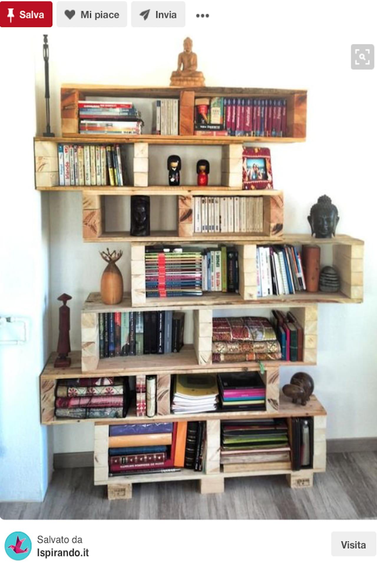 libreria fai da te il riciclo in legno