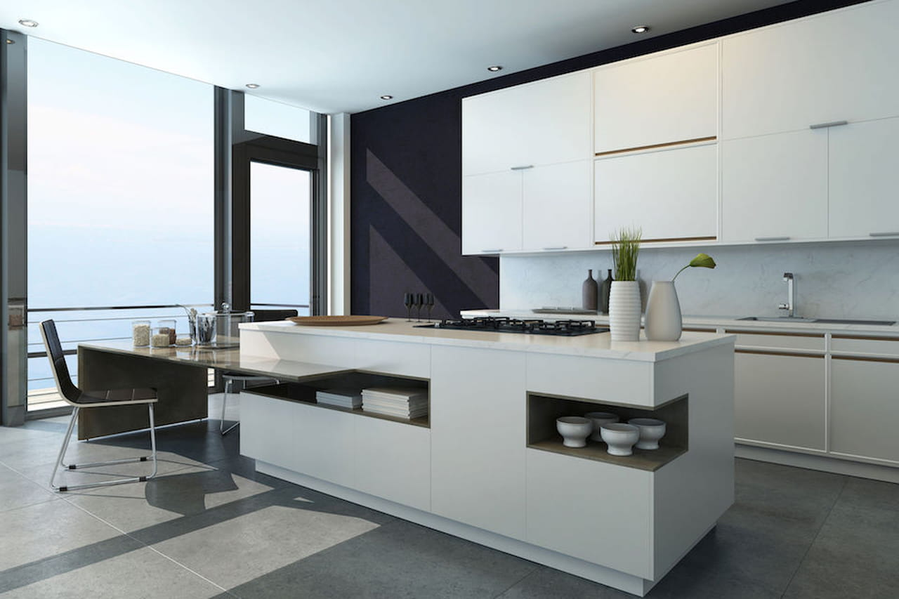 Cucina bianca moderna country chic - Cucine moderne total white ...