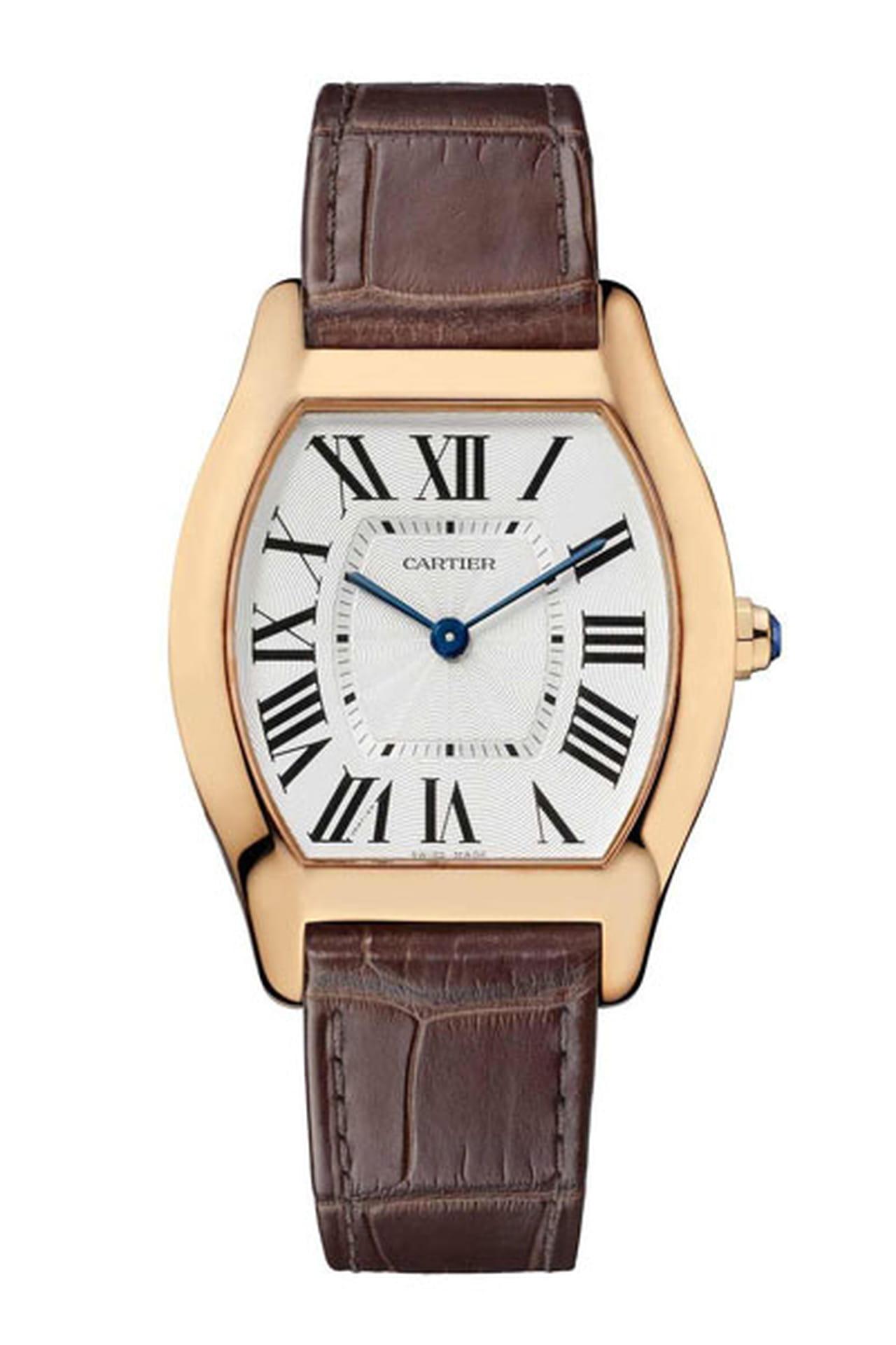 7ac430485 ساعة أنيقة تجمع بين البني والذهبي من كارتييه Cartier.