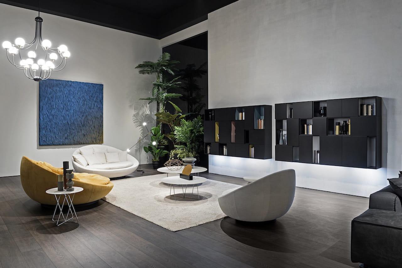 Saloni moderni geometrie virtuosismi o bio for Immagini di soggiorni