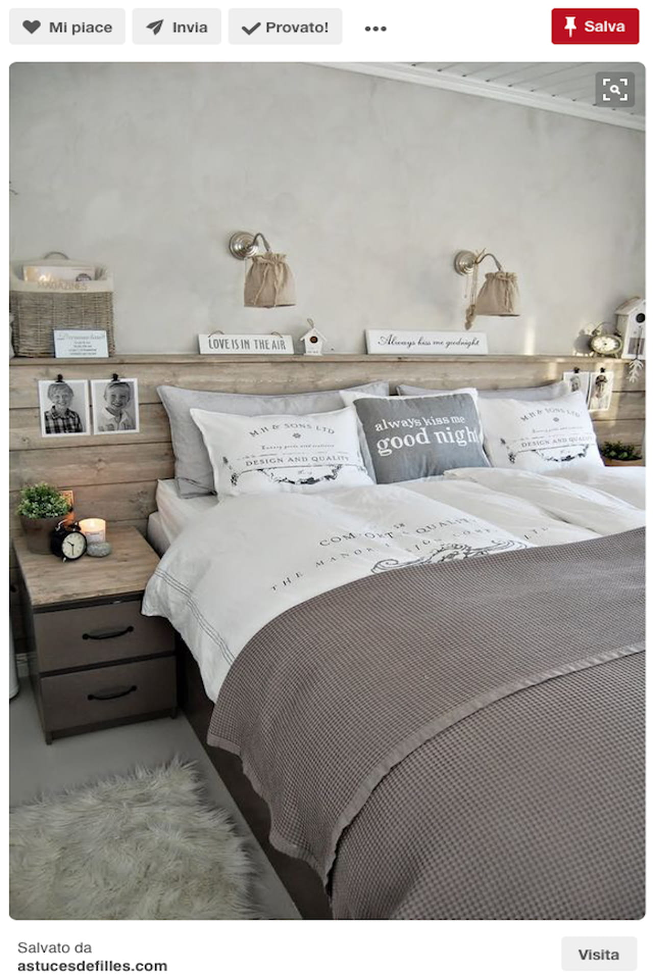Testiera letto fai da te imbottita di legno idee da - Spalliera del letto ...
