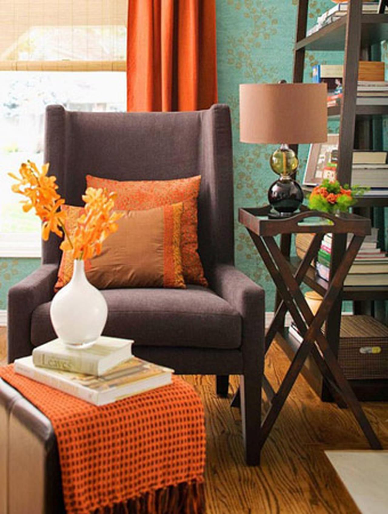 اللون البرتقالي سحر الحياة في منزلك