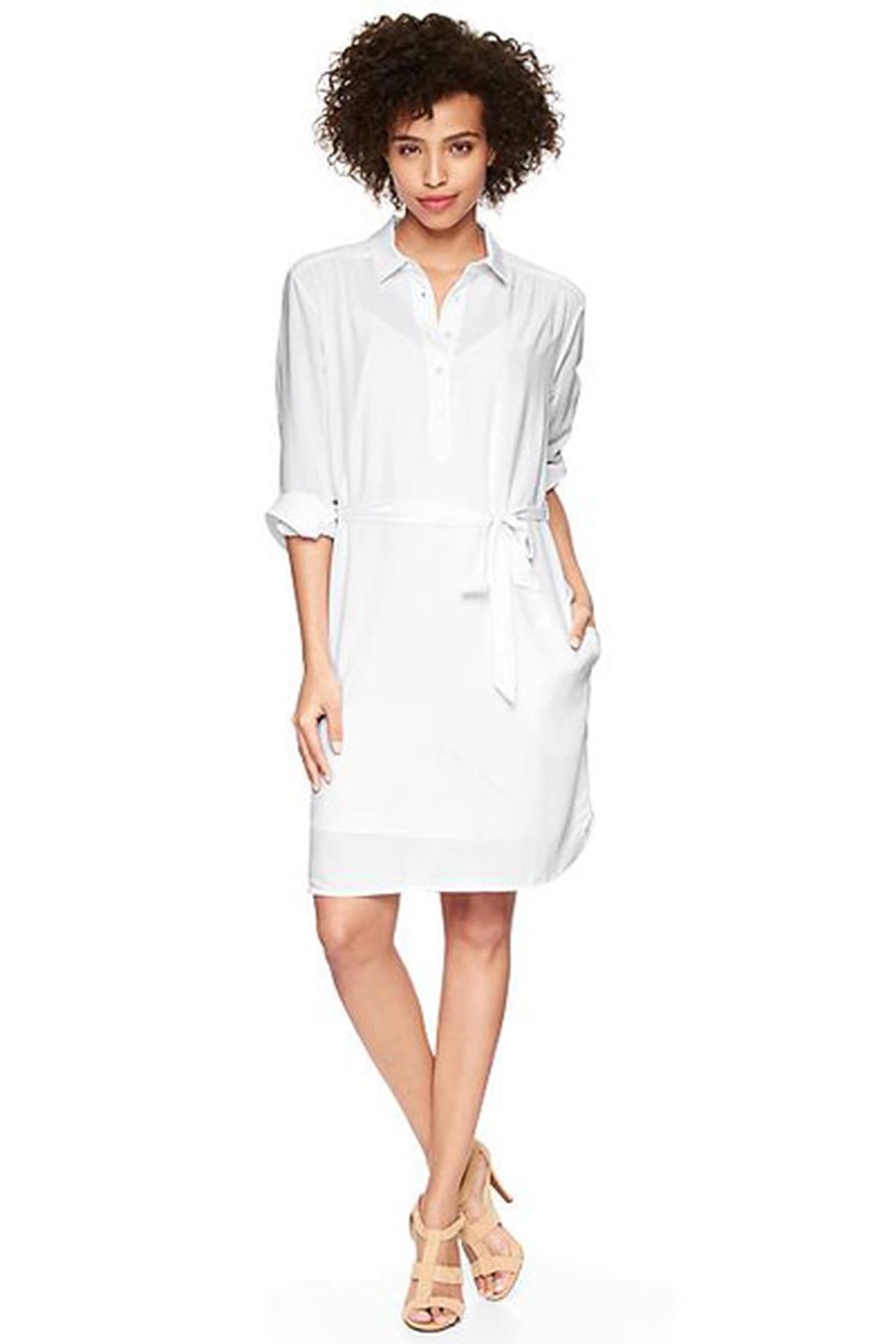 c4939d09b6b58 فستان أبيض مريح من Gap. فستان أبيض من Gap. من موضة صيف 2013