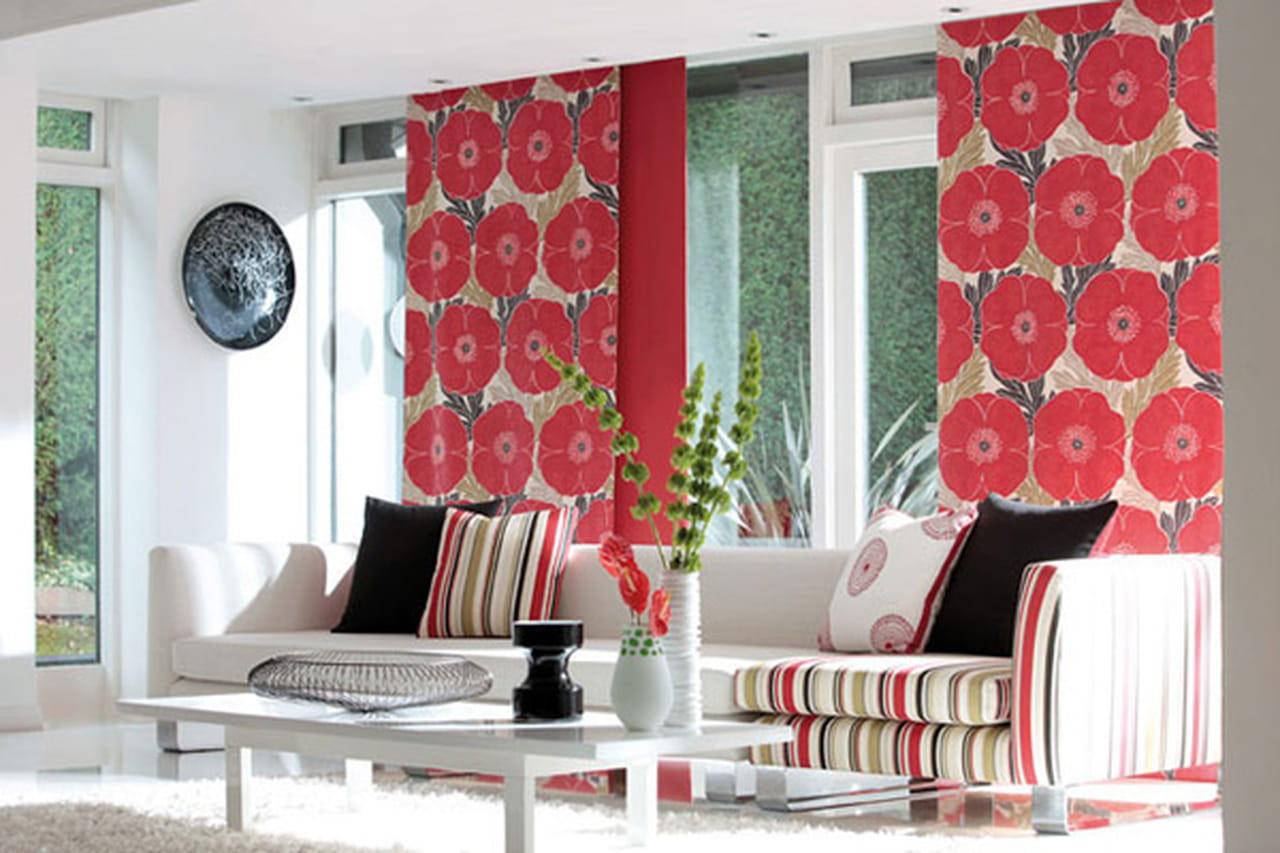 Цветы в интерьере из ткани фото