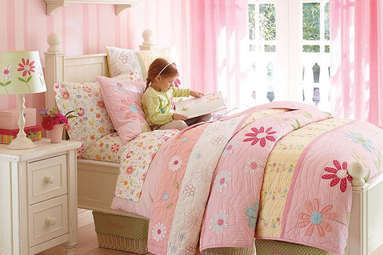 غرف نوم زهرية للبنات