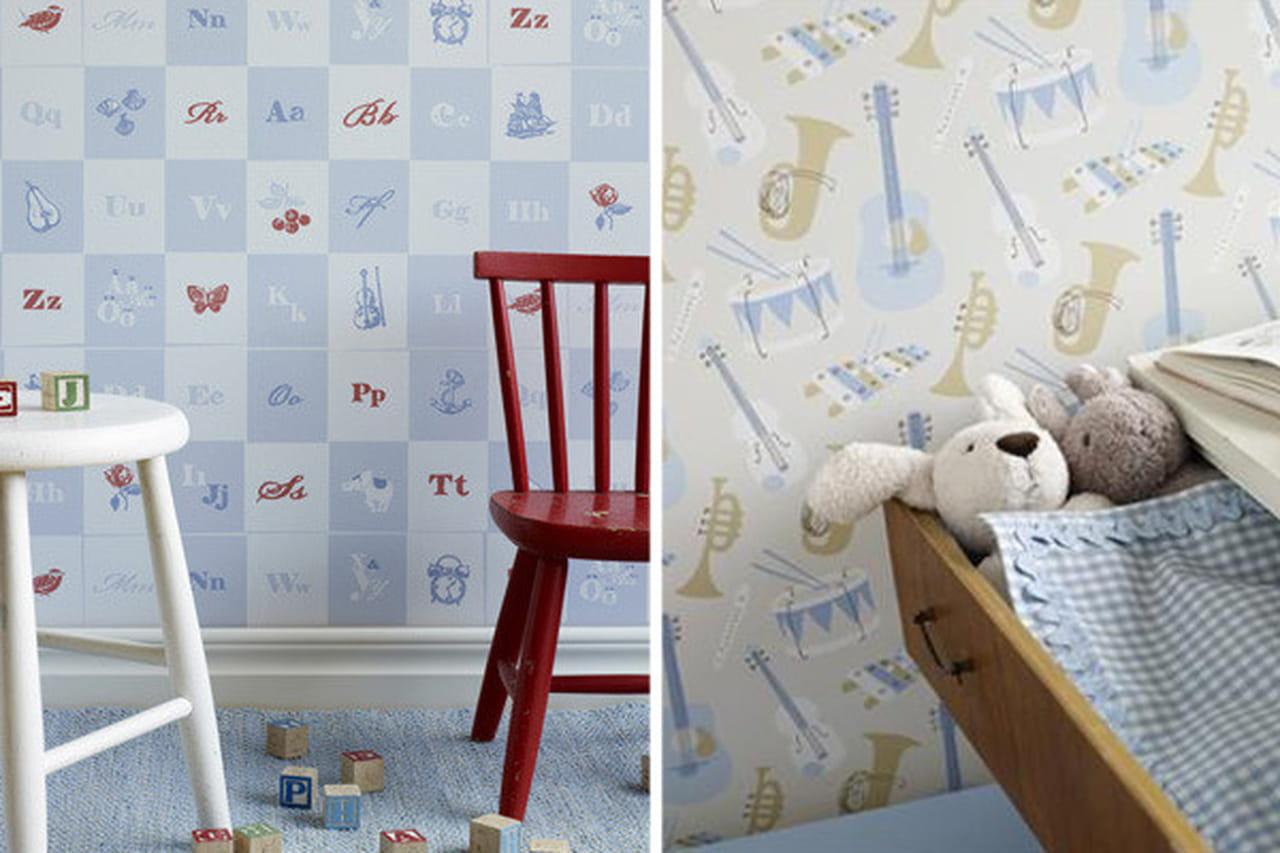 ورق جدران رائع لغرف نوم الصغار