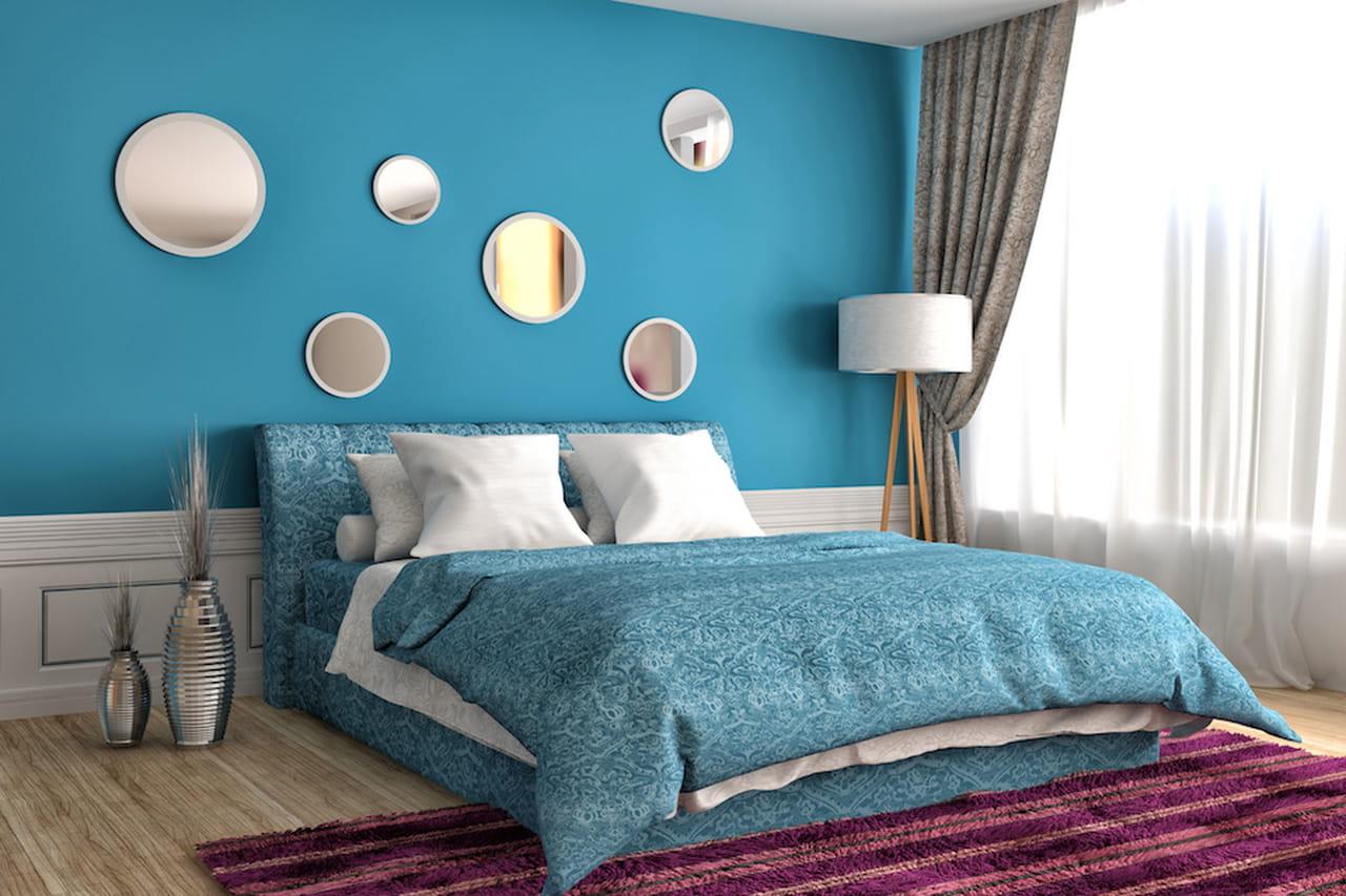 Colori freddi verde e blu per case extra chic - Colori camera da letto matrimoniale ...