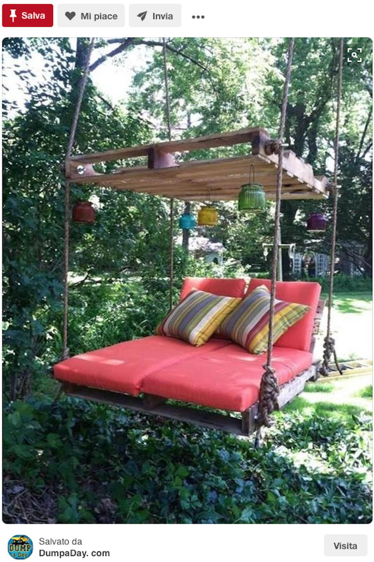 Creazioni fai da te idee giardino da pinterest for Riciclo arredo