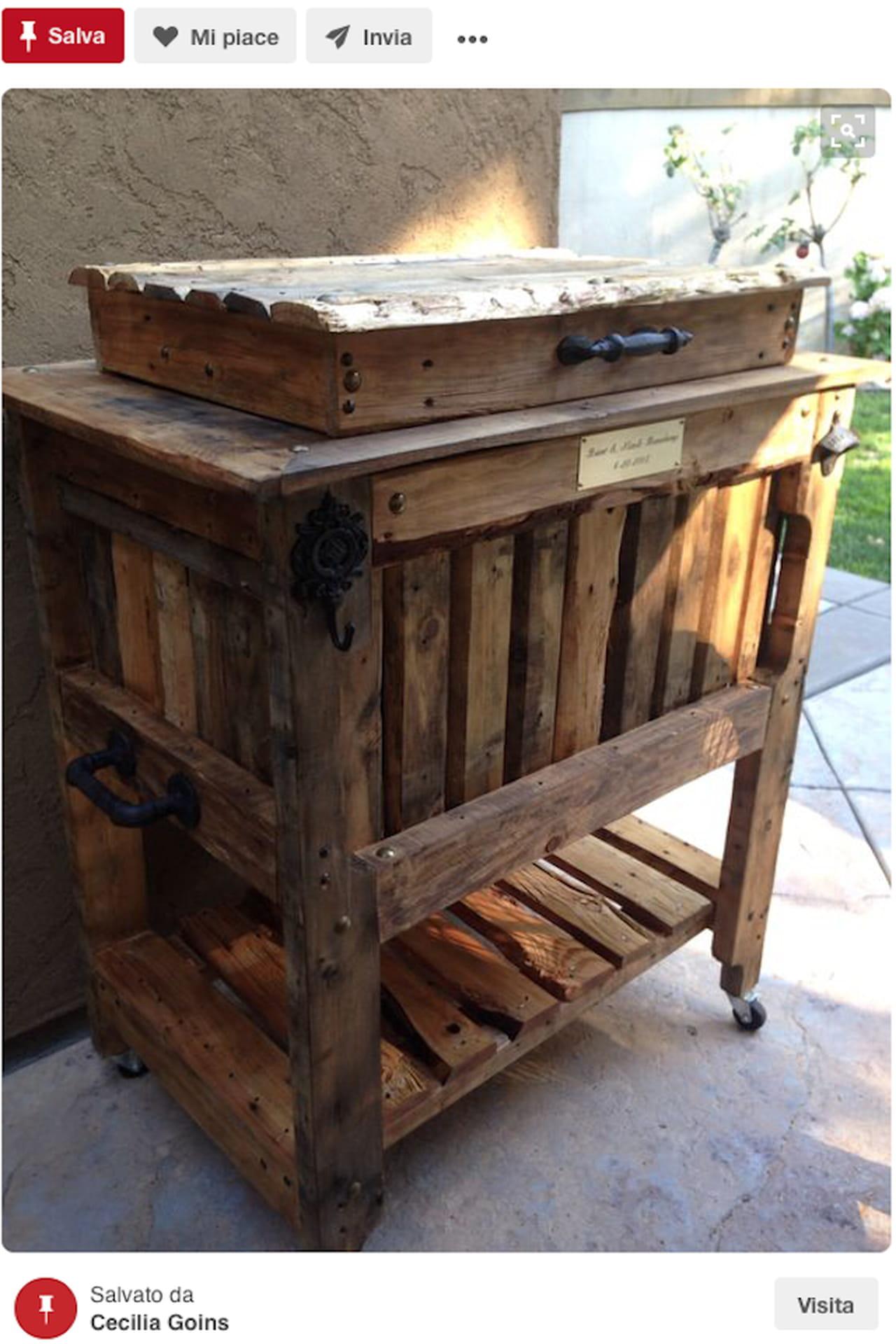 Creazioni fai da te idee giardino da pinterest for Bancali legno per arredare
