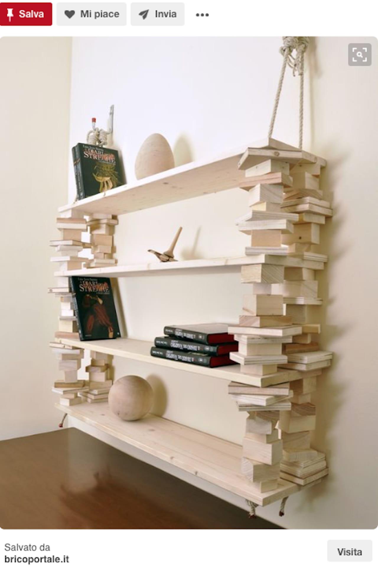 Libreria fai da te: il riciclo in legno