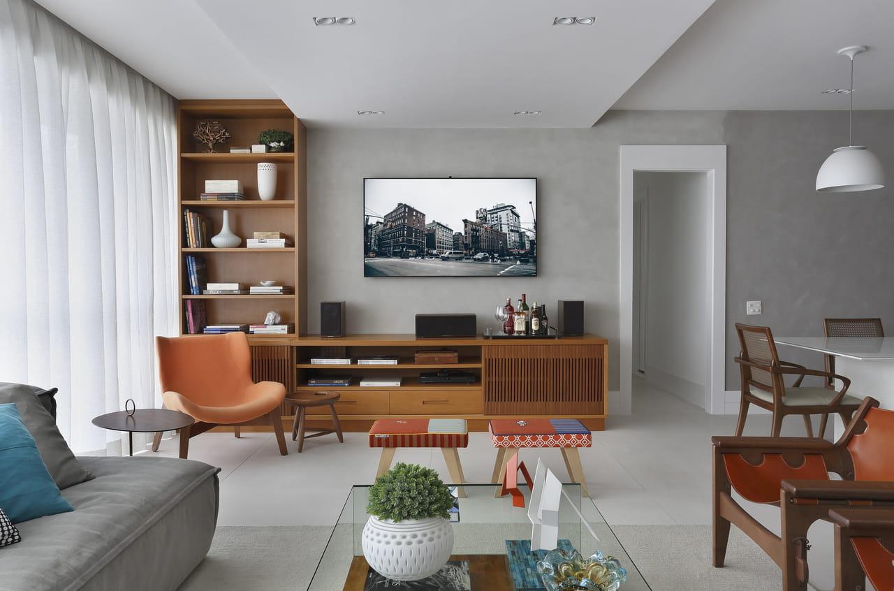 Sala Cinza Dicas E Fotos Para Acertar Na Decora O -> Sala Com Sofa Cinza E Poltronas