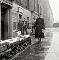 Woman burning a copy of DH Lawrence's Lady Chatterley's Lover, Edinburgh, 1960
