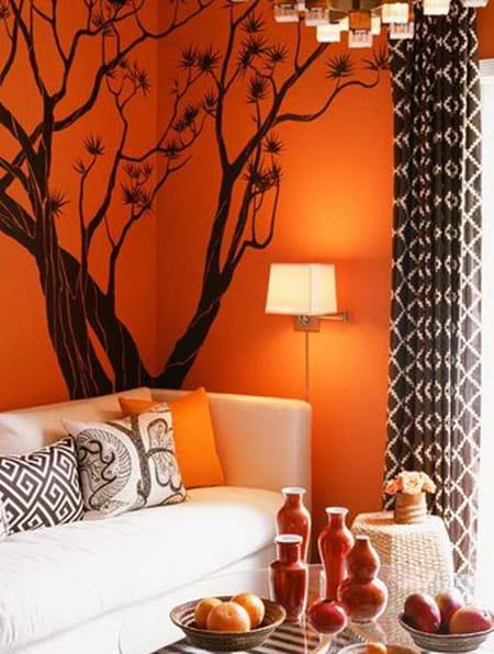 سحر اللون البرتقالي في الديكور  ديكور برتقالي  ديكورات برتقالي  ديكور