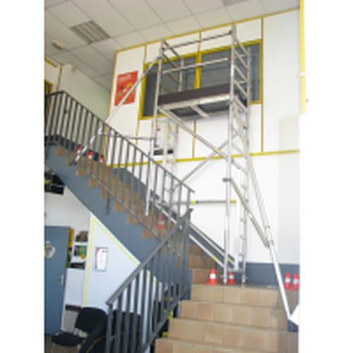 echafaudage aluminium d escalier 6 m