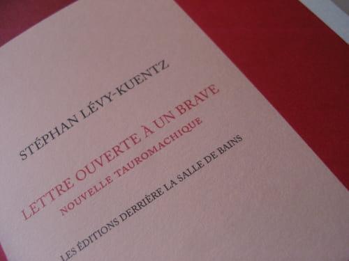 Stephan Levy-Kuenz : maîte et serviteur