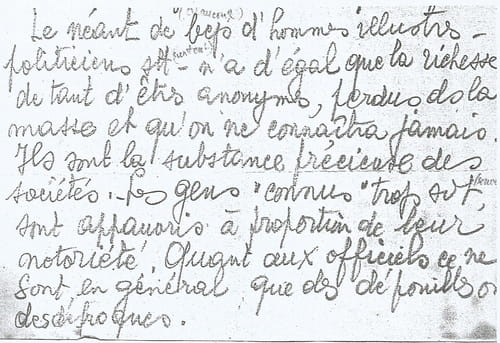 Jean Mogin : une note manuscrite.