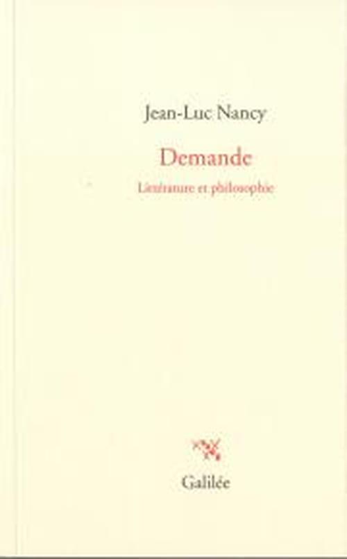 Jean-Luc Nancy : demande sans suite