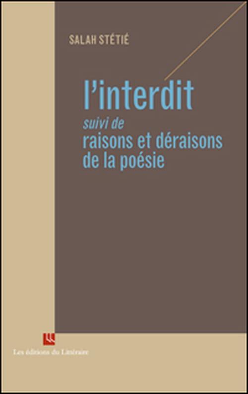 "Salah Stétié lève ""L'Interdit"""