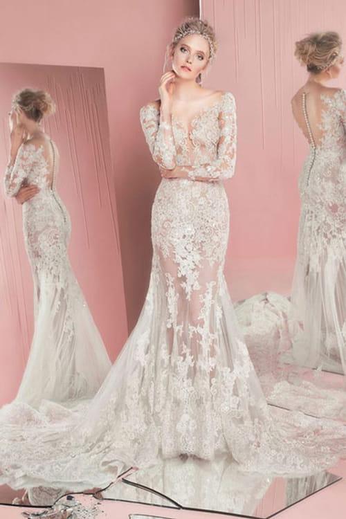 bafe70c0f فساتين زفاف دانتيل 2016 احدث موديلات فساتين زفاف دانتيل 2017 صور فساتين  زفاف دانتيل 2016