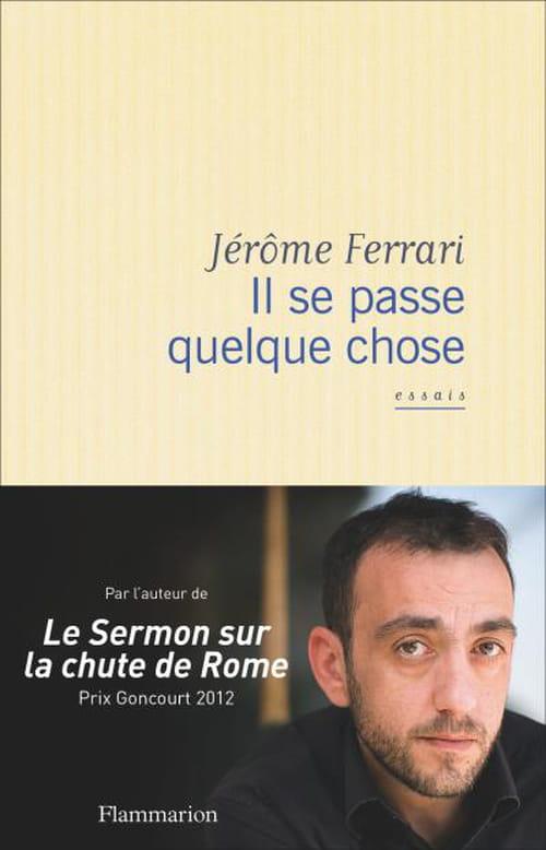 Jérôme Ferrari, Il se passe quelque chose : Le jugement de l'écrivain