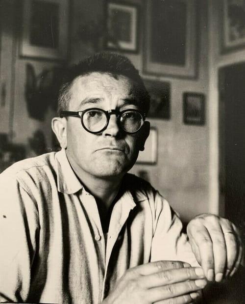 Portrait du facteur-poète Jules Mougin par Marcel Coen