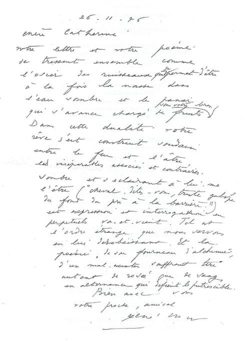 Les dérives de Catherine Chaumien, avec une lettre-poème de René Char