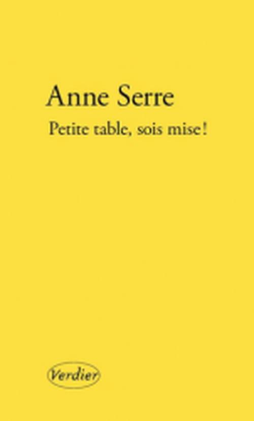 "Anne Serre : ""Quand donc ton sombre cul si velouté..."""
