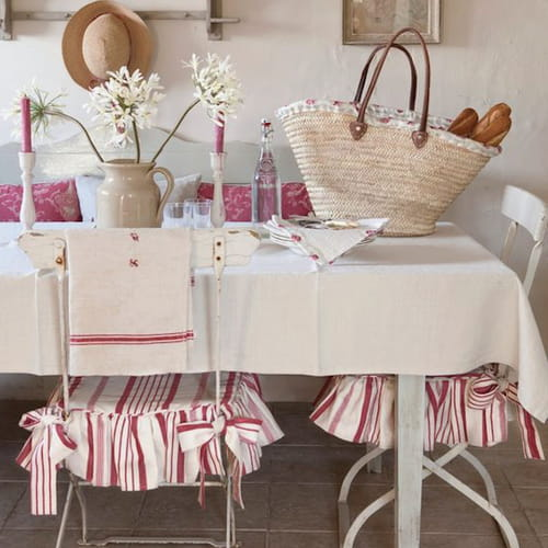 Cuscini per sedie shabby chic spunti da pinterest for Cuscini country chic