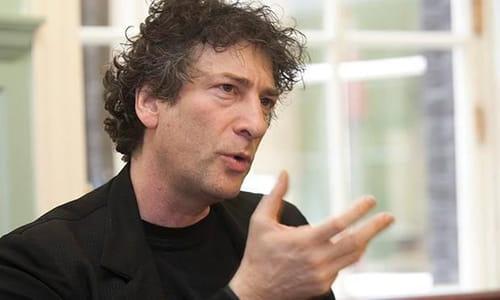 Neil Gaiman en conférence de presse