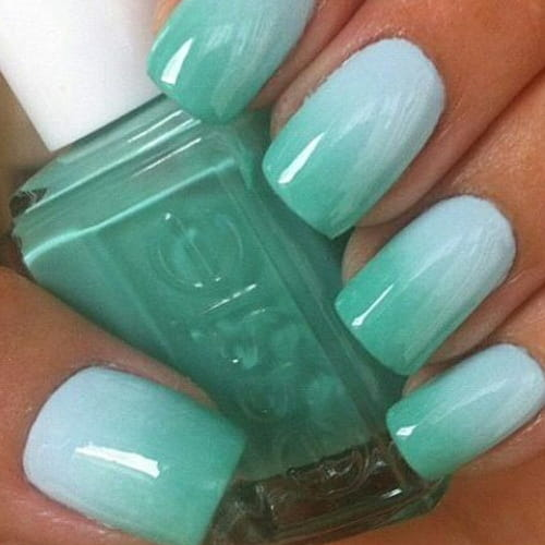 Unghie verde acqua la nail art dell 39 estate for Acqua nail salon
