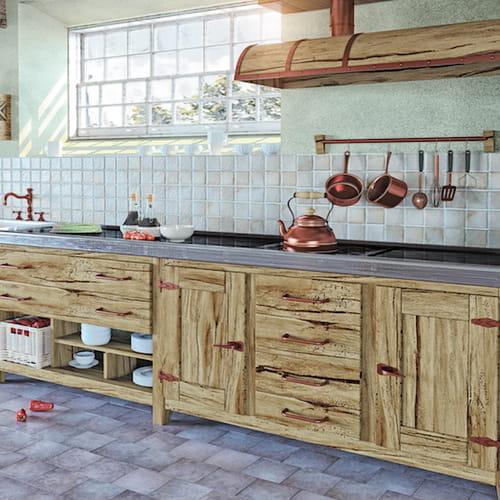 Cucine in muratura moderne country rustiche o shabby - Cucine moderne in muratura ...