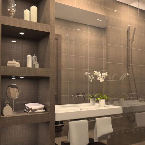 Bagno in muratura 3 idee in stile non solo rustico - Spiata nel bagno ...