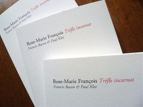 Rose-Marie François : Bacon & Klee