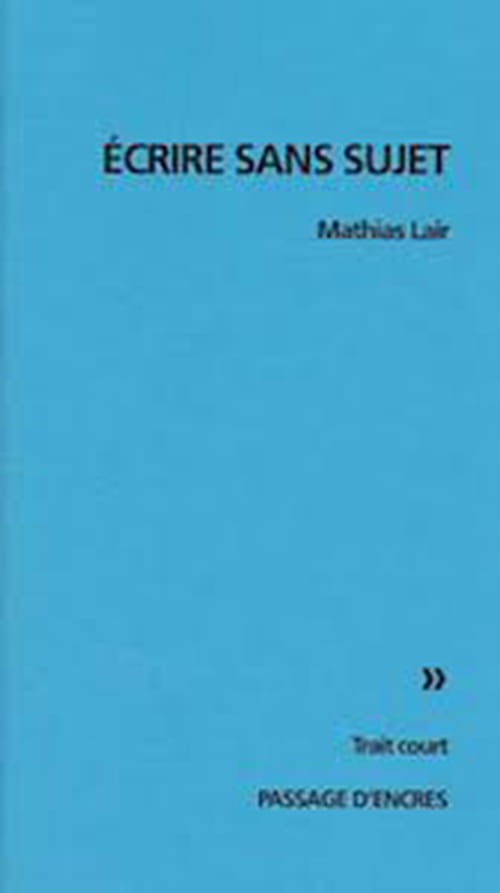 Mathias Lair : Tabula Rasa